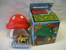 vintage Smurfs MUSHROOM COTTAGE Smurf house MINT UNUSED in BOX Peyo Scheich RARE