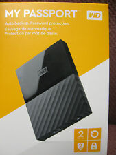 NEW WESTERN DIGITAL MY PASSPORT PORTABLE 2TB HARD DRIVE WDBYFT0020BBK-WESN USB 3