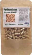 100 Stück Kapseln à 620 mg bittere Aprikosenkerne Vitamin B17 B15 Bittermandel