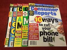 CONSUMER REPORTS MAGAZINE 2000 FEB-SEPT (MAGAZINES/1015103) SET LOT OF 5