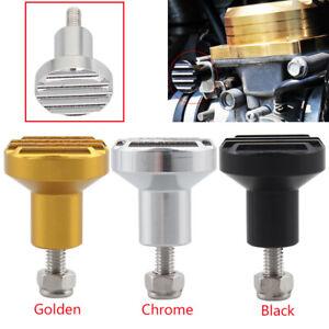 Black/Gold/Chrome Carburetor Choke Knob For Triumph Bonneville Scrambler 08-15