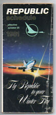 Republic Airlines System Flight Timetable & Route Map October 25, 1981