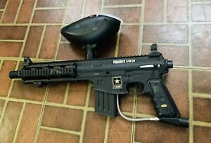Tippmann Project Salvo Paintball Gun US Army Black W/Hopper Tested!!