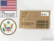 US Army Ration Pack box A. Military meals ready to eat(MRE).Inspect date 2019-05