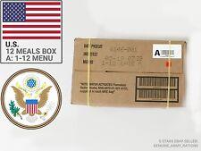 Confezione di razione dell'esercito statunitense di A. pasti Militare pronto da mangiare (MRE). il miglior prima del 2019-05