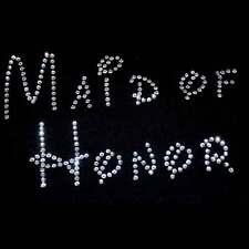 Maid of Honor Rhinestone Transfer - Disney Style Lettering iron on