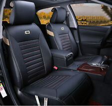 Black&Red Needlework PU leather Car Seat Cover Cushion For Skoda Black