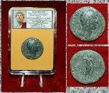 Ancient Roman Empire Coin Of Hadrian Spes Holding Flower On Reverse