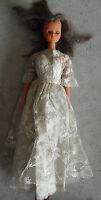 """Vintage 1970s Durham Vinyl and Plastic Bride Character Girl Doll 11"""" Tall"""