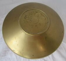 Vintage Covered Brass Bowl Dish Lid Asian, Chinese ?