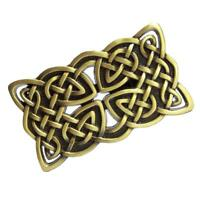 Alloy Men Waist Leather Belt Buckle Irish Celtic Cross Medieval Bronze Gifts