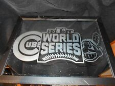 2016 WORLD SERIES ALCS CLEVELAND INDIANS & NLCS CHICAGO CUBS 9X12 ETCHED MIRROR