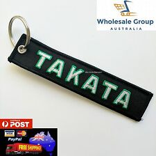 Brand New TAKATA GO FOR GREEN TAG Short Lanyard Racing Keyring Strap JDM Bride
