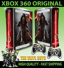 XBOX 360 ORIGINAL KYLO REN STAR WARS JEDI DARK SIDE STICKER SKIN & 2 PAD SKINS
