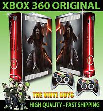 XBOX 360 ORIGINAL KYLO REN STAR WARS JEDI DARK SIDE STICKER SKIN & 2 PAD SKINS