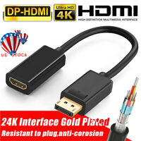 4K Display Port DP To HDMI Female Cable Adapter Converter DisplayPort for HDTV