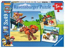 3 X 49 Teile Kinder Puzzle Paw Patrol Team auf 4 Pfoten Ravensburger 09239