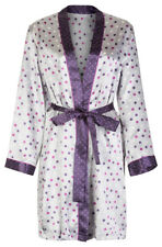 Marks & Spencer Womens Satin Robe New Silky M&S Spotty Dressing Gown Wrap & Belt