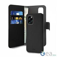 Puro Flip Wallet Cover a Libro + Custodia Magnetica Per iPhone 11 Pro Max Nero