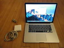 Apple MacBook Pro Retina 15 Quad Core 2 GHz i7 256 GB Flash Drive 8 GB RAM Fast
