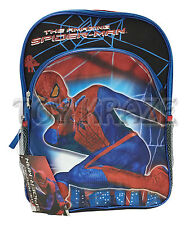 """THE AMAZING SPIDER-MAN BACKPACK! LARGE BLACK RED SIDE WEB SWING MARVEL 16"""" NWT"""
