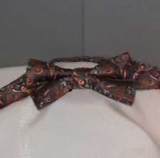 GRAY & PEACH Paisley Adjustible Pre-Tied Polyester Bow Tie bt-29