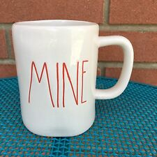 MINE Rae Dunn Clay Magenta Mug Cup Coffee Tea Red Artisan Collection