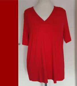 KJ BRAND -  Shirt rot A-Linie   -  Jersey -  NEU - 44 - 58