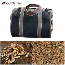 Log Carrier Tote Firewood Holder Canvas Large Double stitched Carry Bag