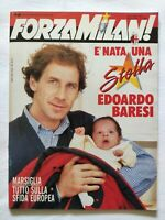 FORZA MILAN N. 3 MARZO 1991 FRANCO BARESI COPPA DEI CAMPIONI MARSIGLIA