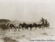 Stagecoach Crossing Desert to Goldfield, Nevada - 1906 - Historic Photo Print