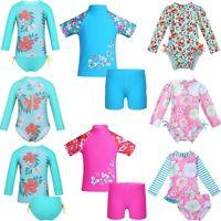 Girls Swimsuit Swimwear Rash Guard Suit Sun Protection Beach Surfing Costume