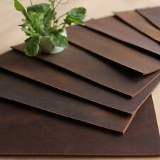 Genuine Retro Leather Fabric Scrap for Wallets Bags Notebook Making Crafts Brown