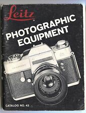 Leitz LEICA PHOTOGRAPHIC EQUIPMENT Catalog #43 Vintage Manual Camera Guide Book