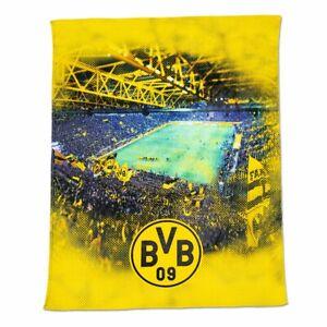 BVB Decke Fleecedecke mit Stadionprint (150x200cm) Borussia Dortmund