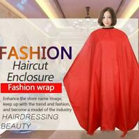 Unisex Hair Cutting Salon Barber Hairdressing Gown Apron Cape Acc Coloring J8I2