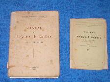 MANUAL DE LENGUA FRANCESA 1951 CURSO ELEMENTAL FRANCES +PROGRAMA 1º BACHILLERATO