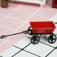 1:12 Dollhouse Miniature Mini Red Eisen Kleiner Wagen Geschenk Nettes T5L1