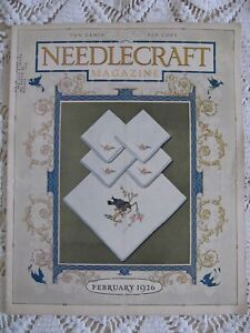 NEEDLECRAFT HOME ARTS MAGAZINE  Pattern Knit Embroidery Crochet Craft Feb 1926