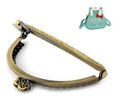 10 Piezas Tono de bronce flor bolso bolso Metal Frame broche de beso Cerradura 8.5 x6cm