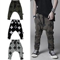 Kids Boys Printed Harem Pants Sports Jogger Trousers Hip Hop Trousers Sweatpants