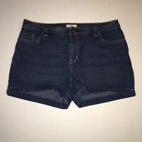 "Cato Women's Denim Blue Jean Shorts Size 12 Dark Wash 10.5"" High Rise"
