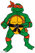 "10"" Ninja turtles michaelangelo wall safe fabric decal cut out character"