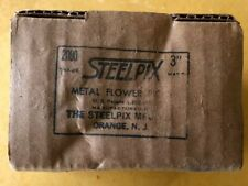 "Vintage Floral Steel Pix 3"" 2000 Pieces for Florist Steelpix Pick Machine. Nos"