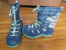 NEW KEEN Winterport II WP Pull-on Boots BOYS 12 Midnight Navy/Green/Grey $90.