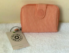 NEW! KIPLING NEW MONEY PEACHY CORAL WALLET PURSE SALE