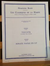 Paradisi Toccata Mozart Sonate facile score partition harpe Henriette Renié