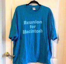 Vintage Reunion For Macintosh Mac Blue T-shirt Apple Computers Size 2XL XXL