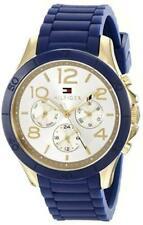NIB Tommy Hilfiger 1781523 Alex Multi-Function  Blue Silicone Ladies Watch
