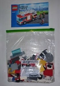 Lego 60002 City Fire Truck (4) - 100% Complete (RETIRED)